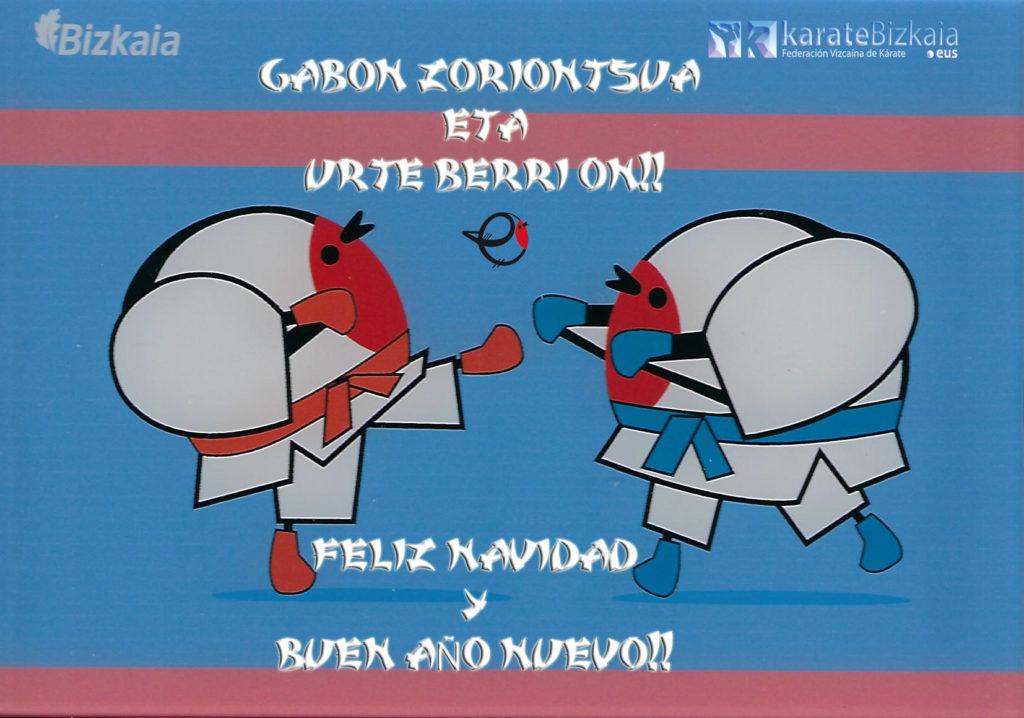 La Federación Bizkaina de Karate les desea Felices Fiestas foto 1